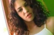 Hete brunette jonge meid